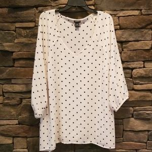 Torrid Polka Dot Blouse.  New Without Tags.